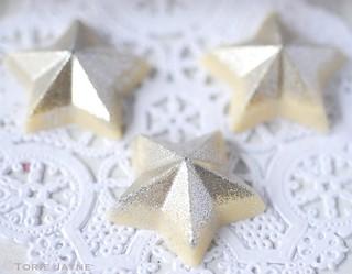 Handmade chocolate stars