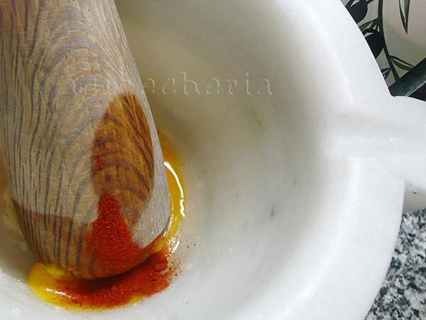 Raviolis de berza con alioli