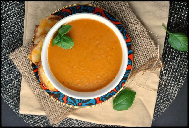 Roasted Tomato Soup with Goat Cheese 2