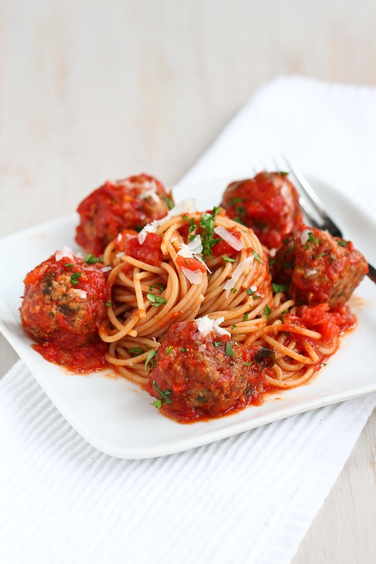 how to cook spaghetti and meatballs in a pressure cooker