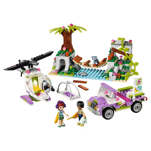 LEGO Friends Jungle Bridge Rescue #41036 the build