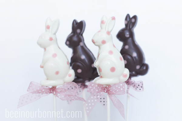 polka dot chocolate bunnies 7