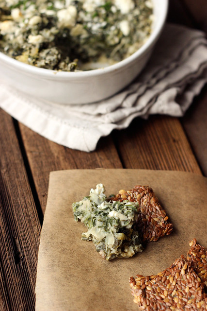 Spinach Artichoke White Bean Dip with Feta - Gluten-free