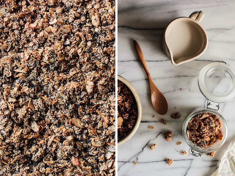 Honey Almond Quinoa Granola