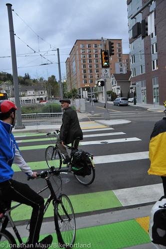 Bike Advisory Committee rides downtown-29