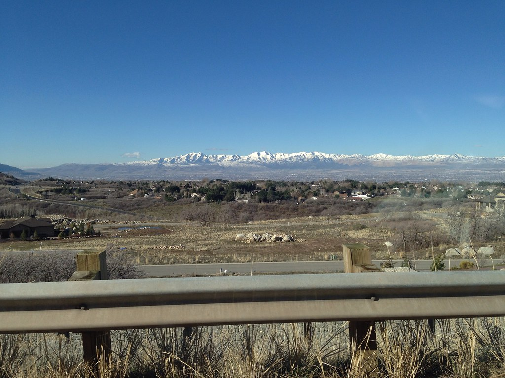 View of the mountains of Utah