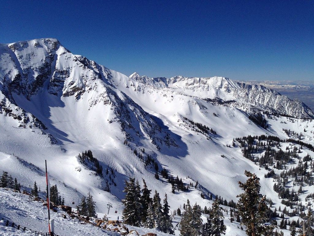 View of the Gad Valley ski area