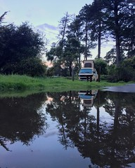 Happy to report that the whole family stayed comfy, warm & dry during an epic pacific coast thunderstorm last night!   Not a bad first night in our trusty #HalePoa !  #Adventure #Family #Camping #PopTop #Westy #WestCoast #RoadTrip #VWSurfari #Rain #Flood