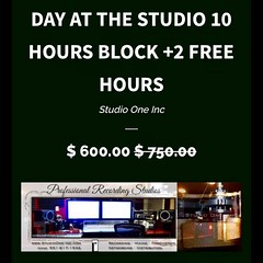 DAY AT THE STUDIO 10 hrs plus 2 hrs free for load in/out perfect for cutting demos, or tracking. engineer included On line specials https://www.madplugz.com/products/day-at-the-studio #studiolife #stufiotime #recordingstudio #wetheones #madplugz #donjosen