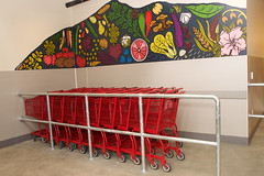 Food bank shopping carts