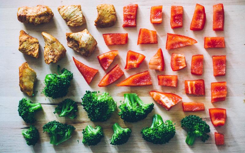 BODY雜誌 蔬菜 花椰菜 番茄 雞肉