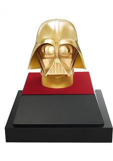 《星際大戰》x田中貴金屬【40 週年紀念商品】純金製等比例「達斯維達面罩」、紀念金幣 純金製ダース・ベイダーライフサイズマスク