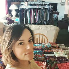 Helping @lularoemindyburton with her party! Check out that table full of leggings! #lularoe #party #leggings #lularoeleggings #clothes #ilikeclothes #saturdayafternoon @lcdefreese