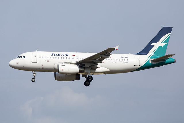 9V-SBF A319 Silk Air   27-03-16 sin