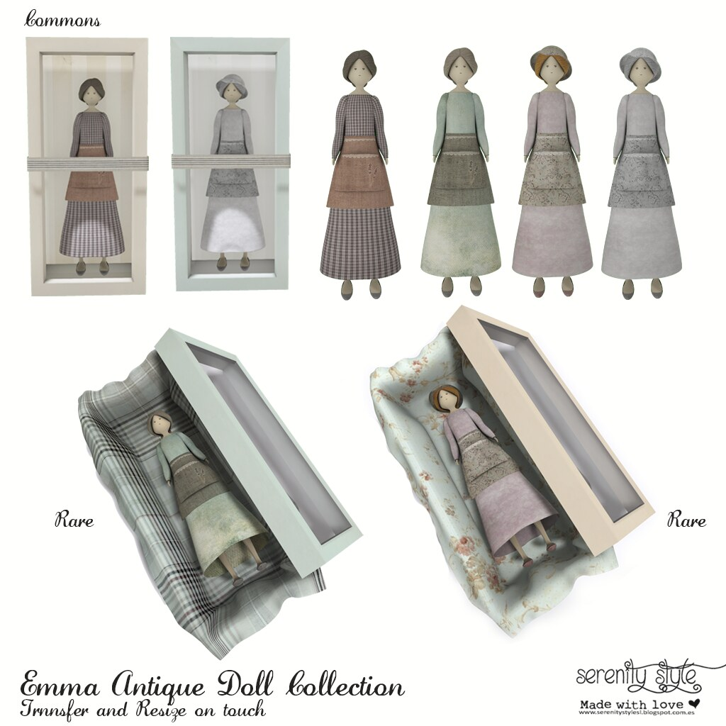 Serenity Style- Emma Antique Doll Gacha - SecondLifeHub.com