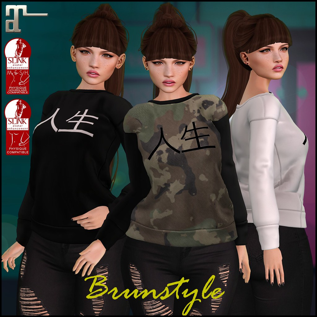 [BrunStyle] - Hope Shirt (Fitted Mesh) - SecondLifeHub.com