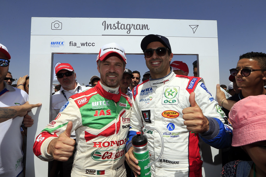 MONTEIRO Tiago (prt) Honda Civic team Castrol Honda WTC ambiance portrait BENNANI Mehdi (mor) Citroën C-Elysée team Sébastien Loeb Racing ambiance portrait during the 2017 FIA WTCC World Touring Car Race of Morocco at Marrakech, from April 7 to 9 - Photo Paulo Maria / DPPI