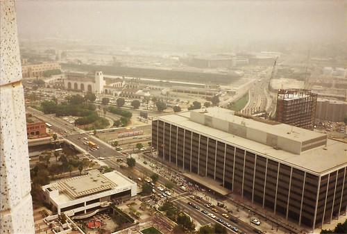 los angeles la california 1987 dtla city hall ca