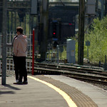People at Preston train station