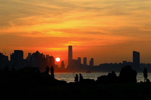 people city circle color sea sun sunlight sunset orange light shadow cloud sky lighthouse beach seashore 2017 hongkong summer favorites30 canonef24105mmf4lisusm canoneos6d eos6d canon 24105mm favorites50 favorites100