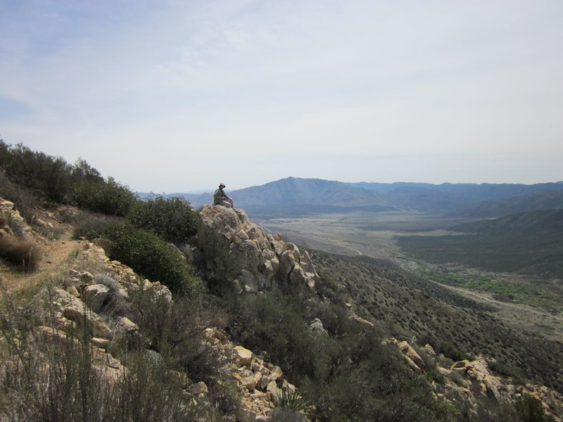 PCT San Felipe Hills - looking south to Granite Mountain