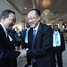World Bank Group President Jim Yong Kim meets United Nations Secretary-General, Ban Ki-moon in Kinshasa