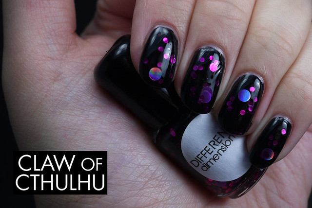 Different Dimension Orion Nebula Swatch (over OPI Black Onyx)