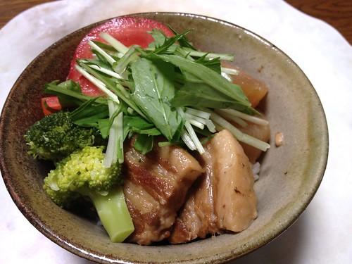 20130524豚角煮丼