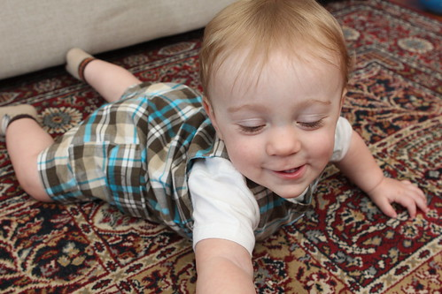 Martin Practicing Crawling