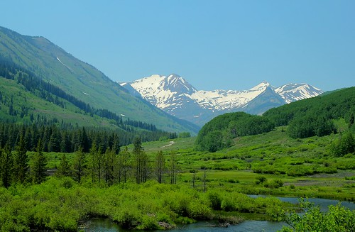 Scenic vista near Crested Butte, Gunnison County, Colorado.