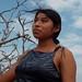 Woman in the Wind - Mujer en el viento entre San Mateo del Mar y Santa María del Mar, Distrito Tehuantepec, Región Istmo, Oaxaca, Mexico por Lon&Queta