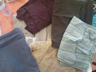Fabrics I donated to the swap!