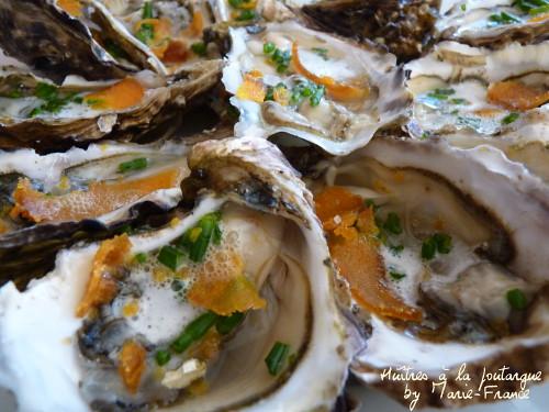 huîtres à la poutargue et salicorne