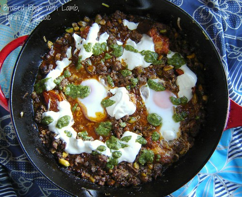 Braised Eggs with Lamb, Tahini & Sumac 2