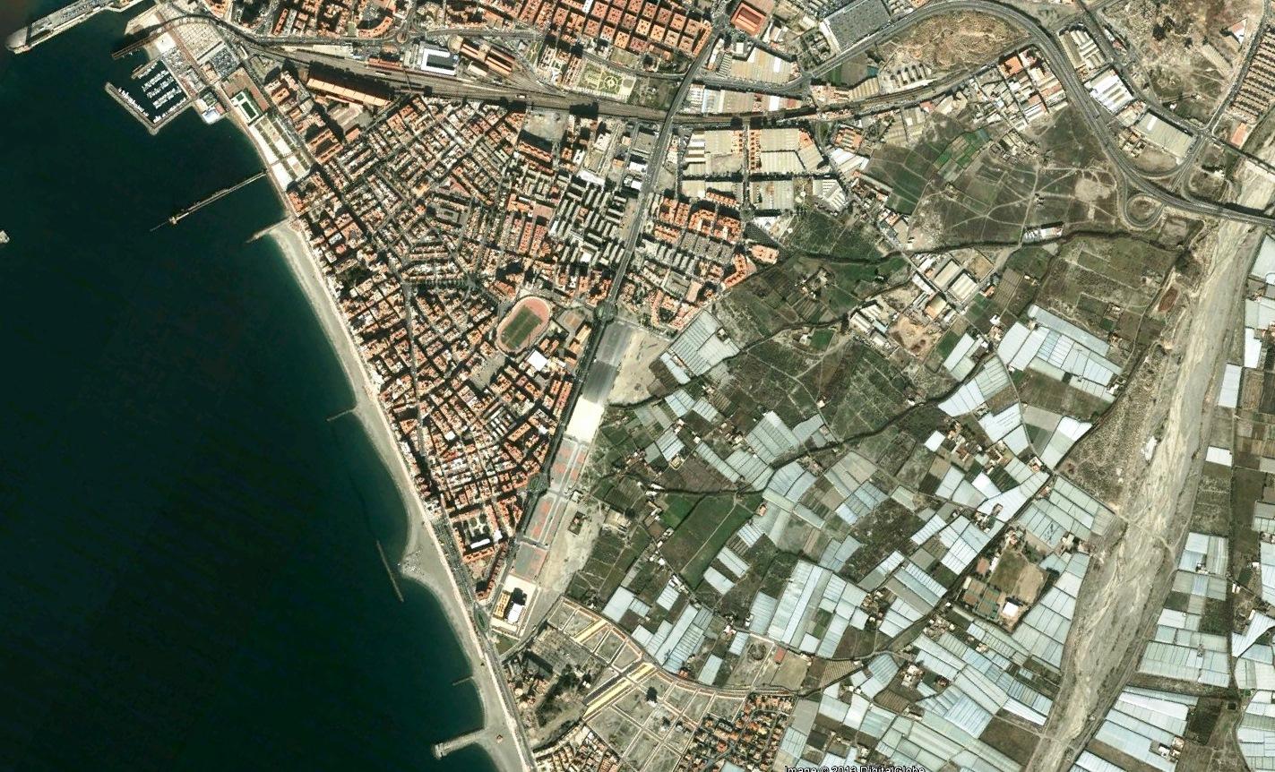 antes, urbanismo, foto aérea, desastre, urbanístico, planeamiento, urbano, construcción, Almería, Toblerone
