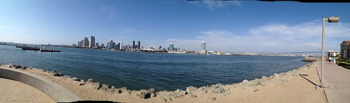 View from Coronado to San Diego by Rob Elkins