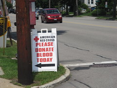 A Sign Ask For Blood Donations