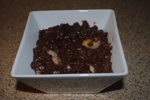 chocolate pear oatmeal