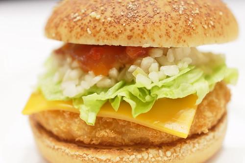 「えびサルサ」shrimp salsa burger