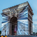 Arc de Triomphe light show during Tour de France by Loïc Lagarde