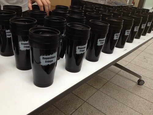 Image of branded coffee mugs