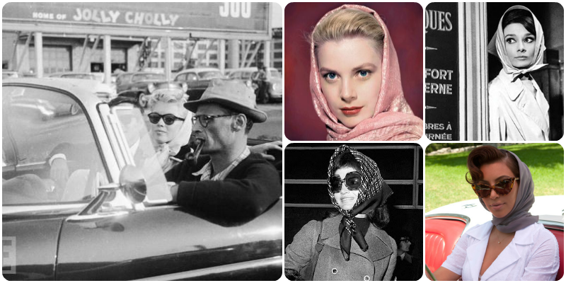 How to Wear, Vintage Style, Headscarf, Head Scarf, Convertible, Car, Driving, Marilyn Monroe, Grace Kelly, Audrey Hepburn, Jackie O, Kim Kardashian, Sam Muses, UK Fashion Blog, London Style Blogger