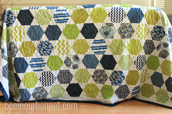 hexagon quilt 3