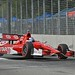 Scott Dixon powers his way through the chicane during qualifications at Baltimore