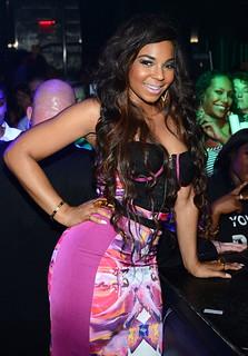 Ashanti looking extra sexy at Moon Nightclub