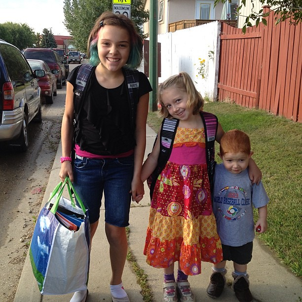 First day of school! First day of school!