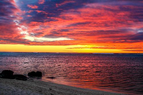 sunrise southpacific cookislands muribeach