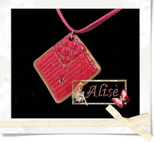 Colgante Rojo y dorado by Alisè