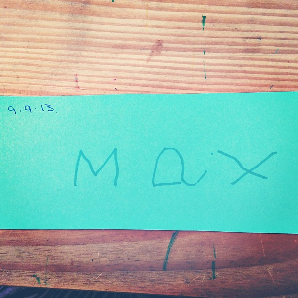 Max can write his name all on his own!! <3 #autism #progress