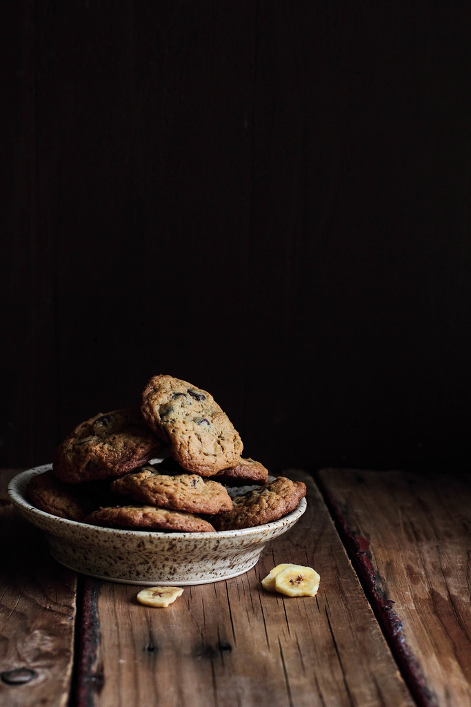 Chocolate Banana Chip Cookies